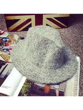 Cony Hair Wool Blends British Winter Warm Fedora Jazz Hats