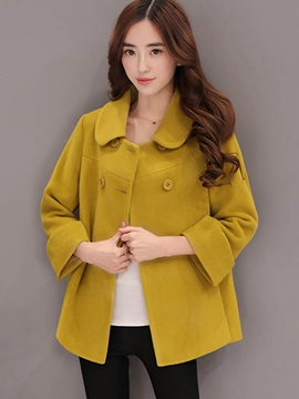 Long Sleeve Double Breasted Overcoat