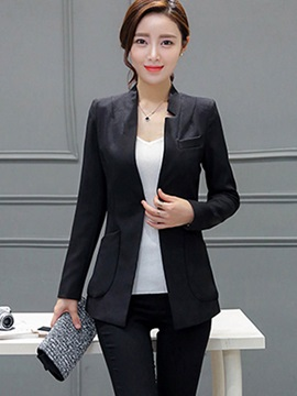 Long Sleeve Mid Length Blazer