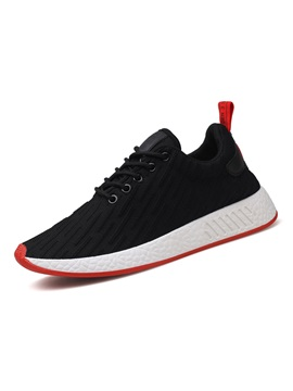 Mesh Patchwork Stripe Mens Athletic Shoes