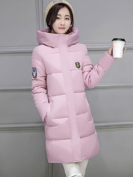 Long Sleeve Mid Length Regular Womens Overcoat