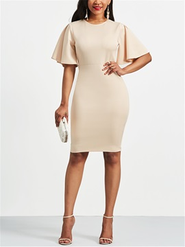 Short Sleeve Womens Sheath Dress