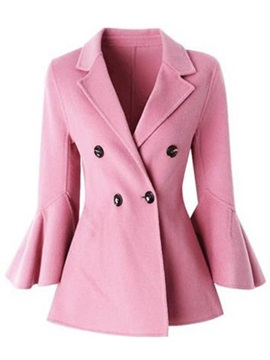 Long Sleeve Double Breasted Womens Overcoat