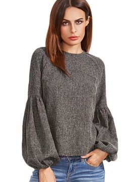 Long Sleeve Pullover Womens Blouse