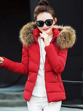 Fashion Hooded Long Sleeve Zipper Overcoat