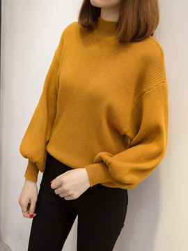 Lantern Long Sleeve Loose Pullover Knitwear