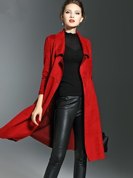 Winter Long Sleeve Mid Length Womens Trench Coat