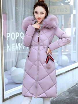 Winter Long Sleeve Mid Length Womens Overcoat