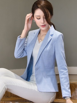 One Button Slim Short Womens Blazer