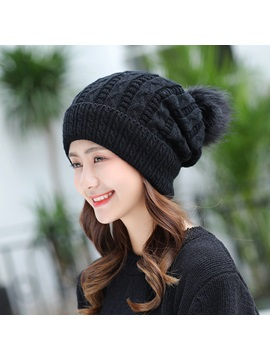 Woolen Yarn Cashmere Korean Style Knitting Hats