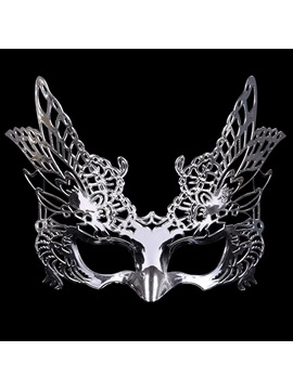 Hollow Out Eagle Shape E Plating Plastic Costume Ball Halloween Night Masks