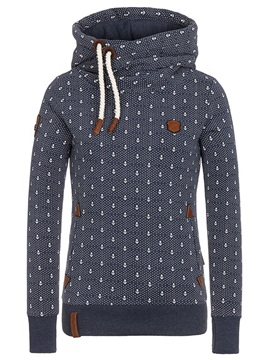 Multi Colors Polk Dots Hooded Womens Hoodie
