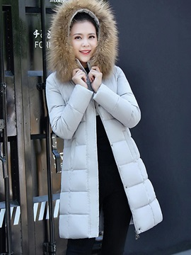 Winter Long Sleeve Mid Length Regular Womens Overcoat