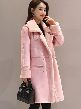 Winter Long Sleeve Lapel Womens Overcoat