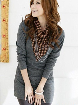 Long Sleeve Mid Length Womens Blouse