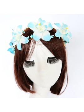 Large Flowers Imitation Beach Holiday Garland Hair Accessories