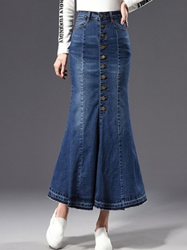 Bodycon High Waist Mermaid Womens Denim Skirt