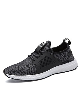 Cloth Lace Up Low Cut Upper Simple Mens Sneakers