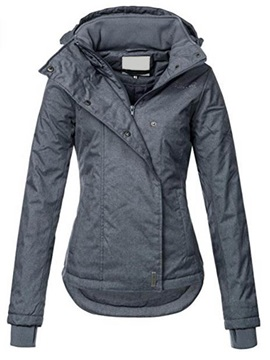 Hooded Long Sleeves Womens Jacket