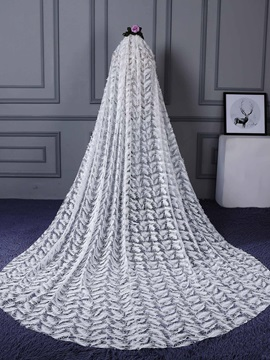 Perfect One Layer Lace Cathedral Wedding Dress