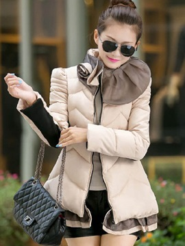 Fashion Winter Long Sleeve Zipper Womens Overcoat