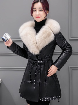 Winter Long Sleeve Mid Length Straight Overcoat