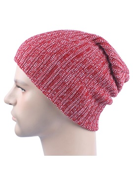 Winter Outdoor Skiing Woolen Yarn Knitted Mens Skullies Beanies Hats