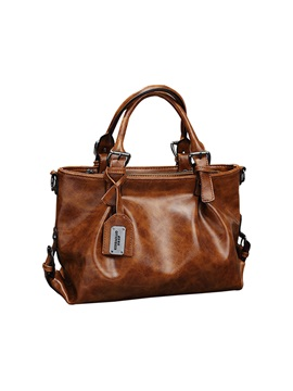 Latest Retro Soft Pu Zipper Handbag