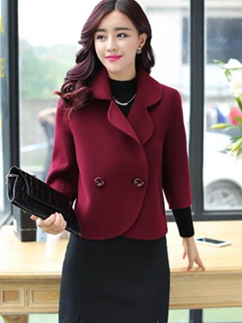 Slim Notched Lapel Womens Jacket