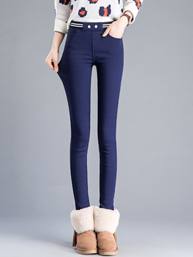 Slim Thick Solid Color Womens Leggings