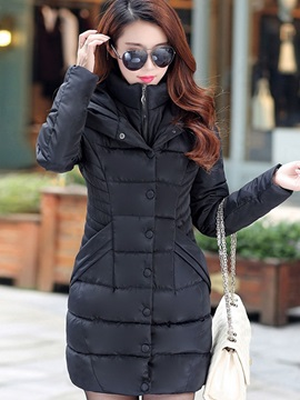 Hooded Mid Length Womens Overcoat