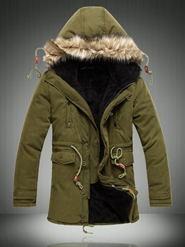 Heavy Lining Hooded Mens Parka