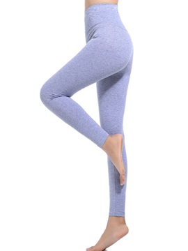 High Waist Cotton Plain Womens Leggings