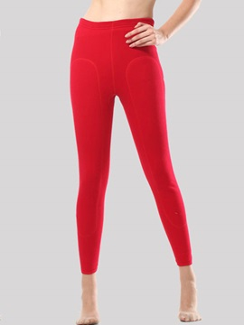 High Waist Thicken Plain Cotton Womens Warm Leggings