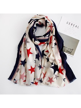 Trendy Star Printed Womens Scarf