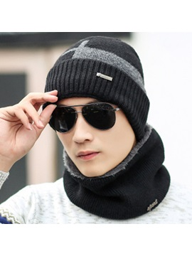 Winter Cold Proof Woolen Yarn Cashmere Mens Loop Hats