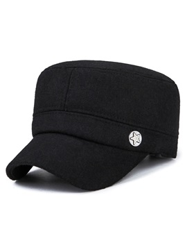 Simple Cashmere Winter Ear Flat Type Mens Hats