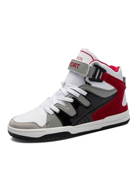 Mesh Patchwork Velcro High Cut Upper Mens Shoes
