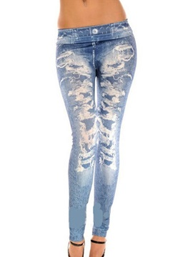 Slim Print Stretchy Womens Leggings
