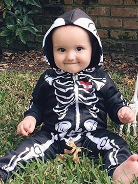 Skull Print Hooded Baby Boys Clothing