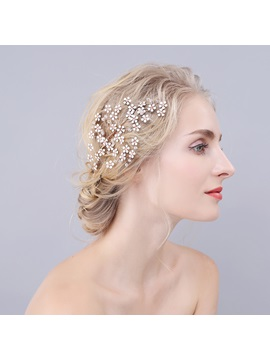 Snowflake Rhinestone Decorated Vintage Brides Hair Comb