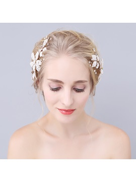 Pure White Flower Wedding Bride Hair Accessories