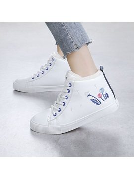 Pu Lace Up Hand Hand Painted Womens Shoes