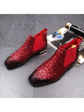Pu Gradient Rivet Sequin Mens Dress Shoes