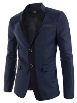 Tidebuy Patchwork Color Block Slim Fit Mens Casual Blazer