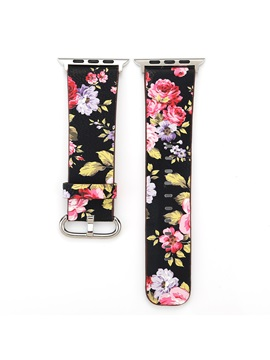 Apple Watch Band Floral Genuine Leather Iwatch 1 2 3 Smart Watch Strap For Wowen