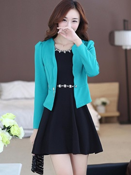 High Waist Jacket And Bead Dress Womens Suit