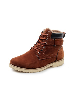 Faux Suede Patchwork Buckle Martin Boots For Men