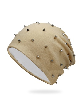 Korean Style Pure Color Rivet Winters Chic Hat For Men
