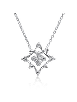 Christmas Diamante Snowflake Zircon Bronze Necklace